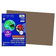 "Riverside 3D Construction Paper, Brown, 12"" x 18"", 50 Sheets"