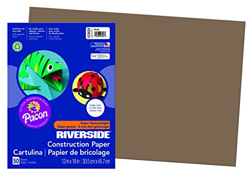 Brown Construction Paper (Riverside 3D Construction Paper, Brown, 12