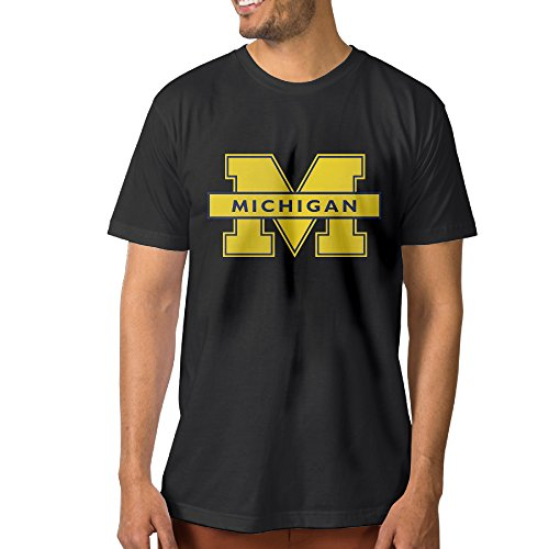 GUC Men's Tee - Michigan University Logo Black M