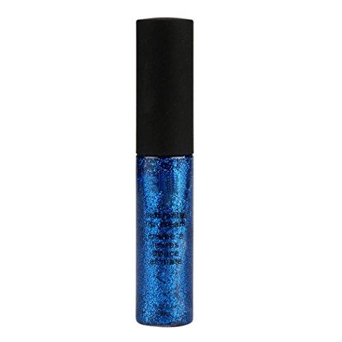 Leoy88 Waterproof Beauty Cosmetic Highlighter Long Lasting Eyeshadow Pencil Liquid Eyeliner (Blue) (Duo Liner Shadow Eye Defining)
