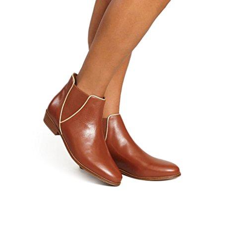 Bobbies Londoner Boots 45601 Colore Cognac Cognac