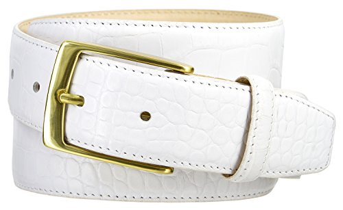 Joseph Gold Buckle Men's Designer Leather Dress Belt 1-3/8