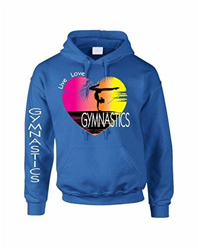 Allntrends Adult Hoodie Sweatshirt Gymnastics Art Pink Print Love Live (S, Royal Blue) by Allntrends