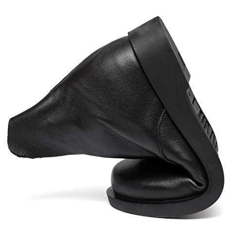 Morbida Morbida Stivali Donna Piatta Dimensione Casual Cerniera Nero Scarpe Nero Pelle da 40 EU Colore Gaslinyuan con in BAwfdWvBnq