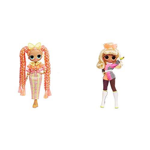 L.O.L. Surprise! O.M.G. Lights Dazzle Fashion Doll with 15 Surprises w O.M.G. Lights Speedster Fashion Doll with 15 Surprises