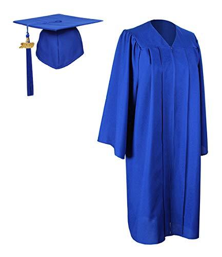 GraduationForYou Matte Graduation Gown Cap Tassel With 2018+2019 Year Charm]()