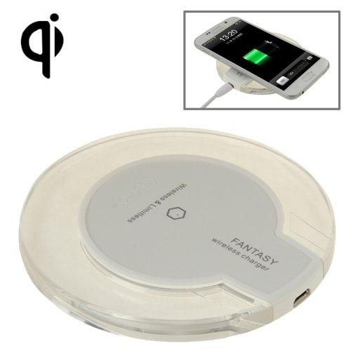 FANTASY wireless charger for All QI Standard Compatible Devices Samsung Galaxy S5 / S4 / Note 4 / 3, etc (White) Generic