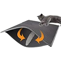 Soddyenergy Katzenstreu Matte, faltbar, doppellagig, wasserfest, mit Wabenmuster, schützt Boden und Teppich, leicht zu reinigen