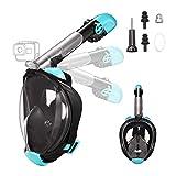 Letsport Snorkel Mask, Dual-Snorkel Full Face Snorkeling Mask for...