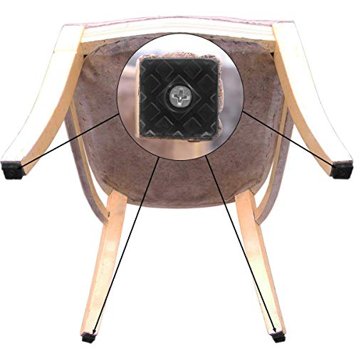 100pcs 2.2x2.2x0.9cm Anti-slip Rubber Furniture Table Chair Foot Pads