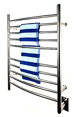 Amba RWH-CP Radiant Hardwired Curved Towel Warmer, Polished