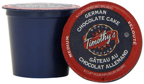 Timothy's World Coffee, German Chocolate Cake, K-Cup Portion Pack for Keurig K-Cup Brewers 24-Count (Pack of 2)
