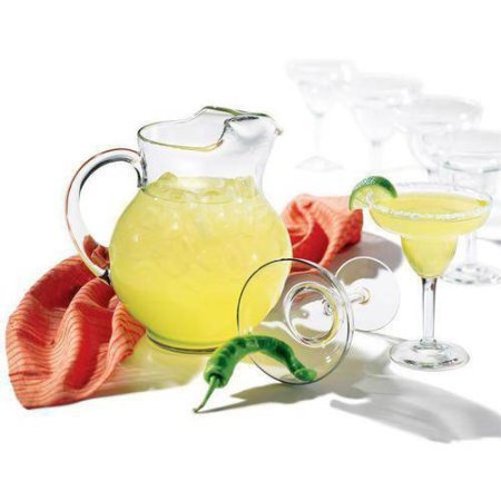 Libbey 7-Piece Cancun Margarita Pitcher and Glassware Set includes 6 9-oz margarita glasses and 1 89.5-oz pitcher, Glass by Libbey