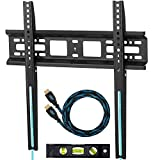 Cheetah APTMM2B TV Wall Mount for 20-70' TVs up to VESA 600 and 165lbs, fits 16' and 24' Wall Studs, Includes a 10' Twisted Veins HDMI Cable and a 6' 3-Axis Magnetic Bubble Level - Samsung Version