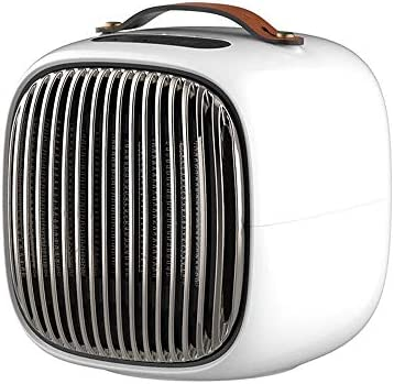 JRQ ヒーター、室内金庫ポータブルスマートファン、熱気と自然風 (Color : White)