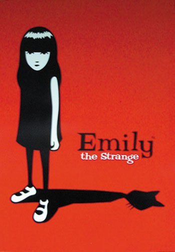 Tomorrow sunny 24X36 INCH / ART SILK POSTER / EMILY THE STRANGE - POSTER / PRINT (RED & BLACK / CAT)