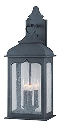 Three Light Colonial Iron Wall Lantern