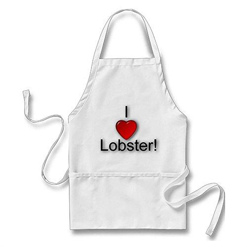 Julyou I Love Lobster! Apron for Women Men, White