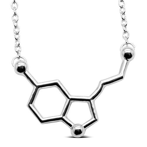 Serotonin Molecule Silver Phantom Jewelry product image