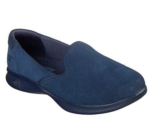 Skechers GO Step Lite Delite Womens Slip On Sneakers Navy 8.5