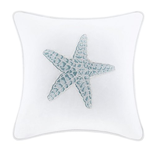 Bedding House (Harbor House Maya Bay Square Pillow, 16 by 16-Inch, White)