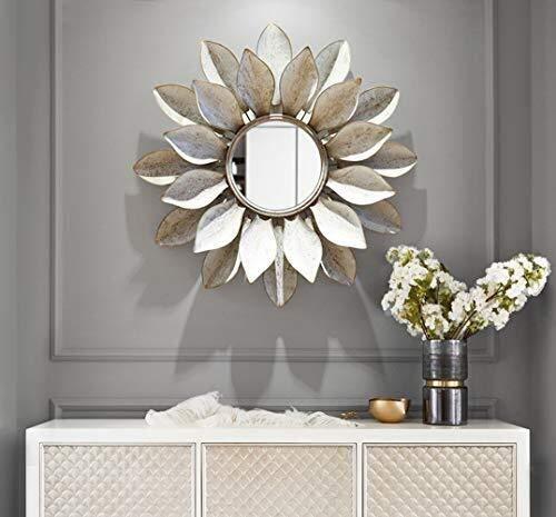 Bathroom Mirror,Three-Dimensional Decorative Mirror Wall Hanging Mirror Wall Decorative Mirror Bathroom Living Room Bedroom 78 78cm