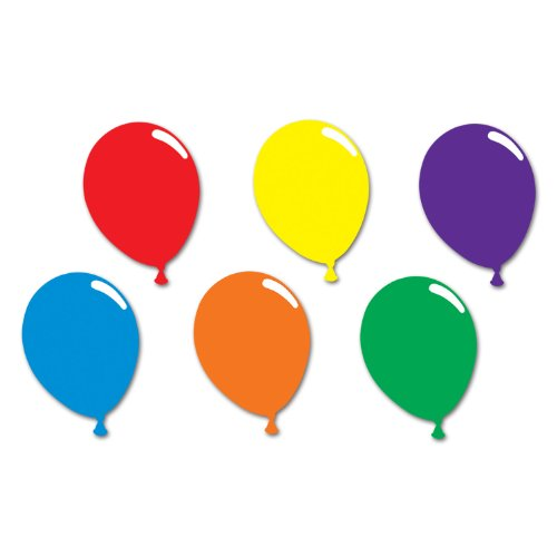 Beistle 55296 Printed Balloon Silhouettes, 24 Pieces In