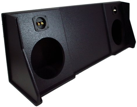 ASC Dodge Ram Extended, Quad or Club Cab Truck 1998-2001 Dual 10'' Subwoofer Custom Fit Sub Box Speaker Enclosure - Armor Coated by American Sound Connection (Image #1)