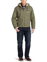Carhartt Men\'s Big & Tall Sherpa Lined Sandstone Sierra Jacket J141,Army Green,XX-Large Tall