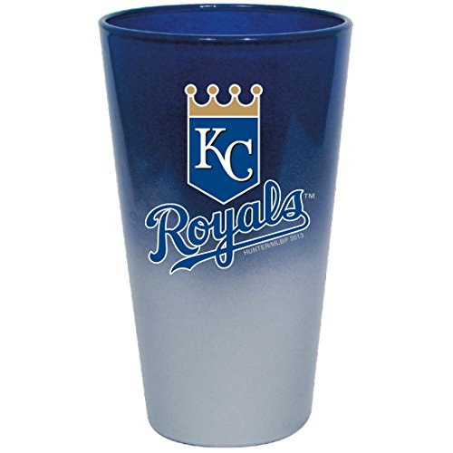 Hunter MLB Kansas City Royals Chrome Mixing Glass, 17 oz, Blue Hunter Blue Clock