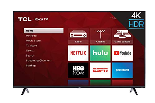 High Professional Series Wall - TCL 43S425  43 Inch 4K Ultra HD Smart Roku LED TV (2018)