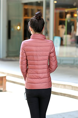 Coat Pink Puffer Jacket Winter Down Packable Quilted Gilet Down Quibine Short Weight Light Women's qZ4wpF8xT