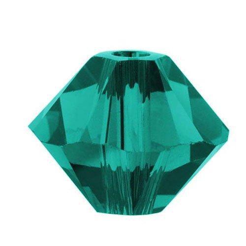 (Swarovski Crystal, 5328 Bicone Beads 3mm, 25 Pieces, Blue Zircon)