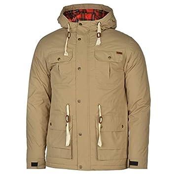Lee Cooper acolchado Parka chaqueta para hombre caqui chaquetas abrigos Outerwear, caqui, small: Amazon.es: Deportes y aire libre