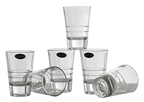 Glass 3 Ounce Votive - Amlong Crystal Lead Free Shot Glasses - 2.5 oz, Set of 6