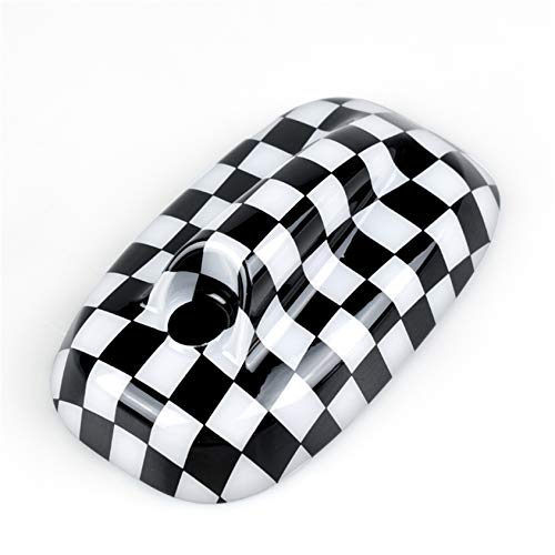 HDX Black White Check Flag Checkered ABS Sticker Cover Trim Cap for Mini Cooper ONE S JCW F Series F55 Hardtop F56 Hatchback F57 Covertible 2016+ (Roof Top Radio Antenna)