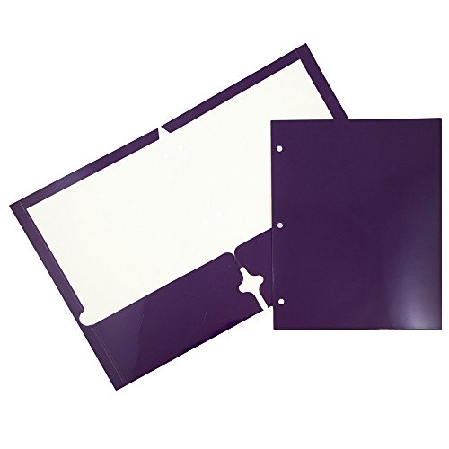 JAM Paper Laminated Two Pocket Glossy 3 Hole Punch Folders - Assorted Primary Colors - 6/pack by JAM Paper (Image #6)