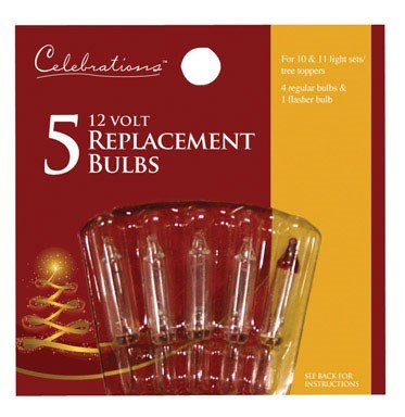 Celebrations 1145-2-71 Mini Replacement Bulbs-Clear, 12V -