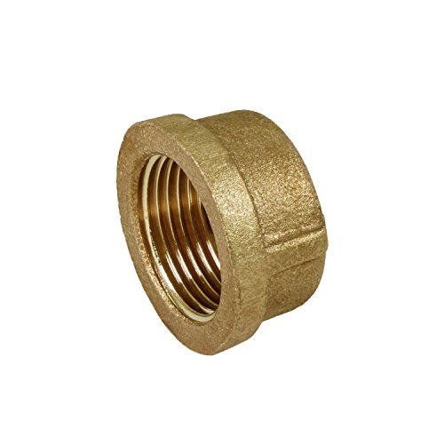 Everflow BRCA0100-NL 1 Inch Lead Free Brass Pipe Cap for 125 LB Applications with Female Threads, Brass Construction, Higher Corrosion Resistance, Economical & Easy to Install (Cap Copper Pipe)
