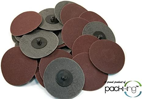 25 PC 180 (Fine grade) 3 Inch Sanding Discs Roloc Style Type R Abrasives