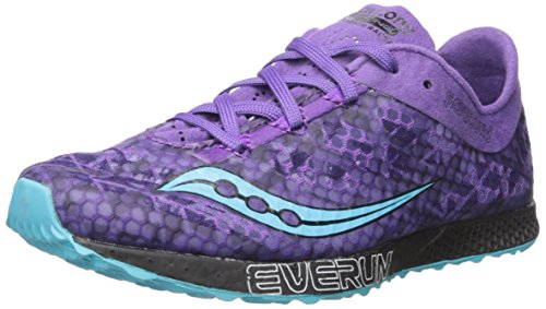 Saucony Women's Endorphin Racer 2 Track Shoe, Purple/Teal, 7.5 M US