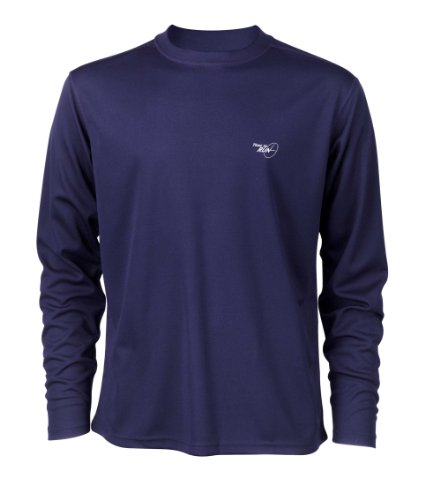 "Time To Run Men's Favourite Long Sleeve Running Gym T Shirt Top Large 42""- 45"" Navy"
