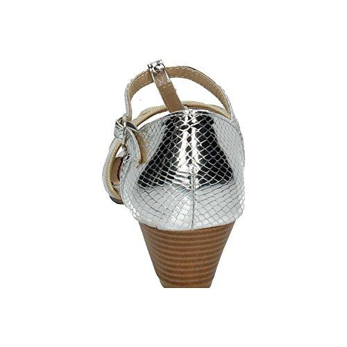 H 23 In Argento Basso Tacco Zapatop Donna nbsp;scarpe Sandali SCw5q