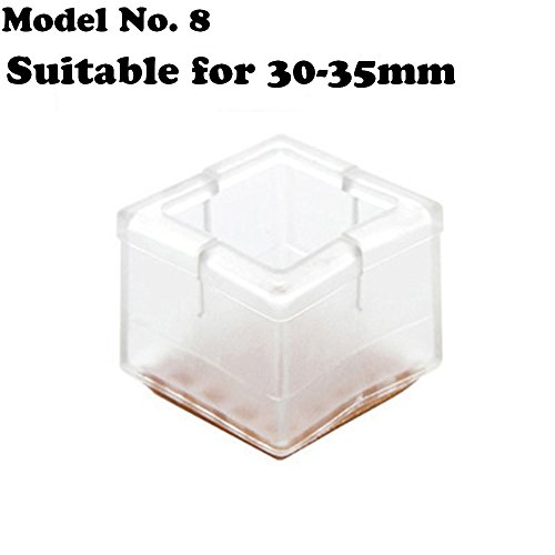 High Quality Transparent Rubber Table Chair Leg Protective Foot Cap Pads , Chair/Table