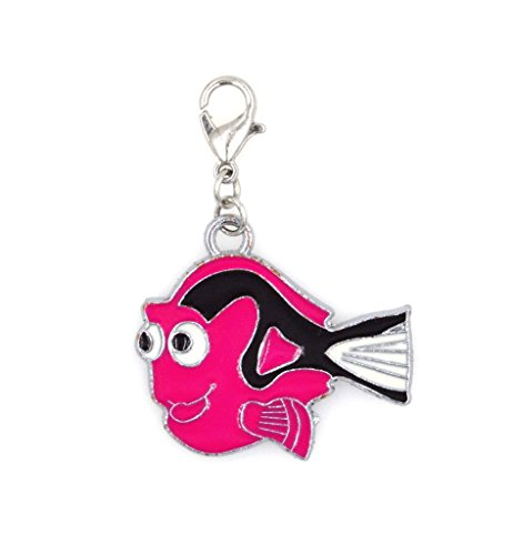 stainless-steel-clasp-and-jump-rings-pink-dori-fish-clip-on-charm-bead-perfect-for-necklaces-or-brac