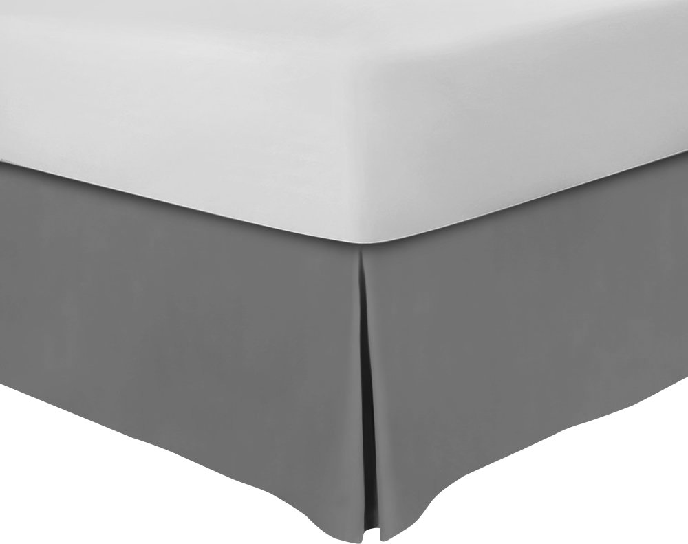 Utopia Bedding Bed Skirt - Hotel Quality - Iron Easy - Quadruple Pleated - Wrinkle and Fade Resistant (Queen - Grey) by Utopia Bedding