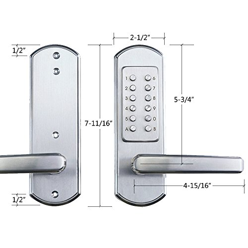 Elemake Right Handed Keyless Entry Lock Door Keypad