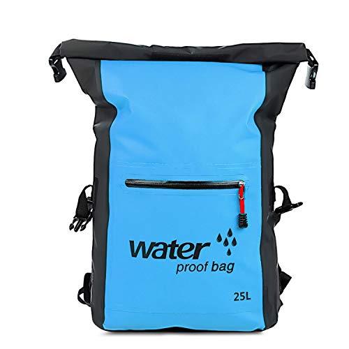 25L Outdoor Swimming Waterproof Dry Bag Rafting Backpack Storage Bag Rafting Sports Kayaking Canoeing Swimming Bag Travel Kit,Sky Blue