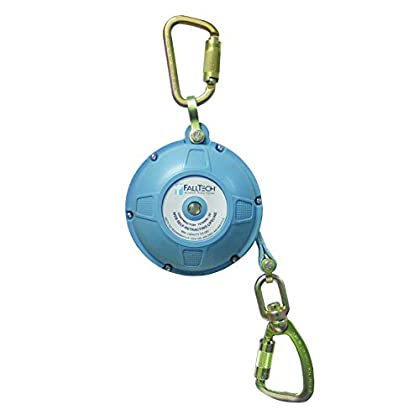Image of Home Improvements FallTech 7276WR Contractor/Dyneema Web SRL- Glass-Filled Nylon Housing, Dyneema Web, Connecting Carabiner, Load-Indicating Swivel Carabiner, 20', Blue