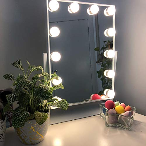 Large Hollywood Makeup Vanity Mirror with Lights,Plug in Light-up Professional Mirror with - Vanity Bathroom Royal Mirrors